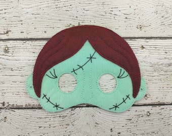 Sally Children's Felt Mask  Party Favor - Costume - Theater - Dress Up - Halloween - Face Mask - Pretend Play - Party Favor