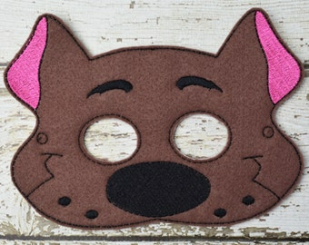 Silly Dog Childrens Felt Mask  - Costume - Theater - Dress Up - Halloween - Face Mask - Pretend Play - Party Favor