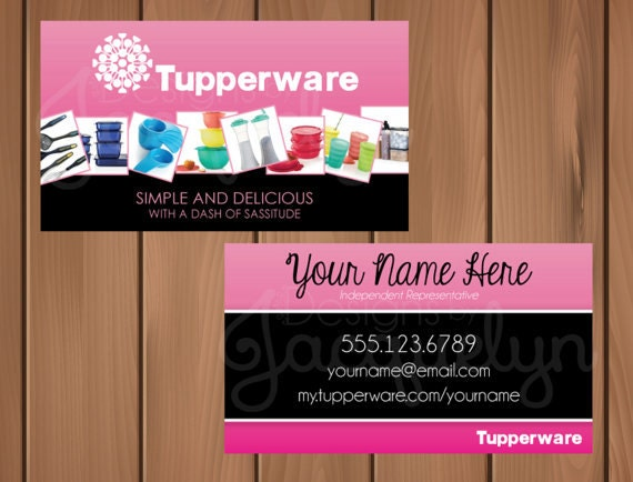 Tupperware business cards cards tupperware business by printed cards business etsy on tupperware mycrazydesigns colourmoves Images