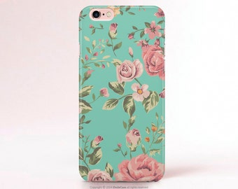 iPhone 7 Case iPhone 7 Plus Case Floral iPhone 6s plus Case floral iPhone 6s Case mint iPhone 6 Case Samsung S8 Plus Case, iPhone SE Case