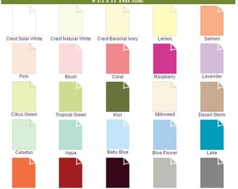 10 Pack of Gala Collection Paper 8 1/2 x 11