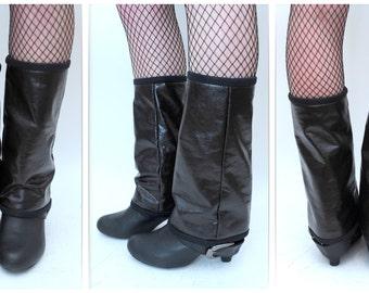 ON SALE!!! 50% OFF//CS1A0003--leg warmers-Leg Warmers-Black-Alternative Punk Rock Steampunk Vegan Underground Glam