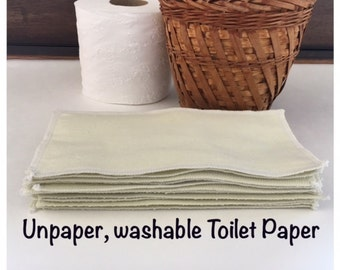 Washable Reusable Toilet Paper 2 Ply; Cloth Wipes; Ivory Soft Cotton Flannel Cloths; Washable Baby Wipes; Choose Your Color And Size!