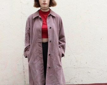 dusky lilac vintage trench/overcoat medium