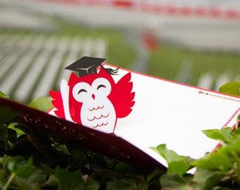 Graduation Owl Pop Up Card, Graduation Card
