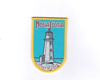 Vintage Nova Scotia Peggy's Cove Lighthouse Patch