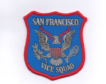 San Francisco California Vice Squad Patch