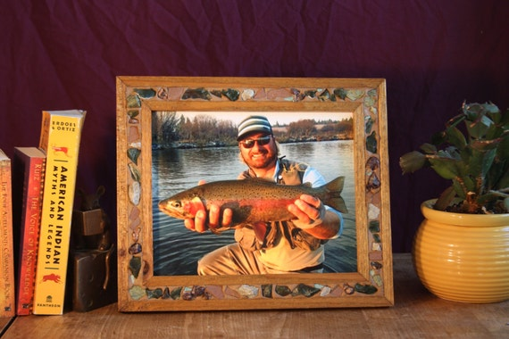 8x10 picture frame fishing picture frame rock mineral for Fishing picture frame
