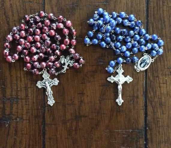 PICASSO GLASS BEAD Rosary