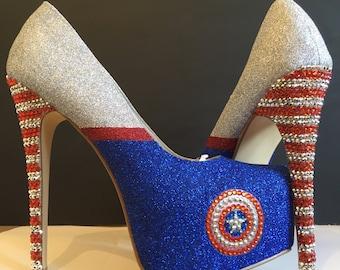 Captain America Inspired Heels
