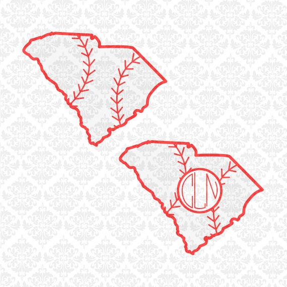 South Carolina Baseball Softball Fast Pitch Laces SVG STUDIO DXF Ai Eps Scalable Vector Instant Download Commercial use Cricut Silhouette