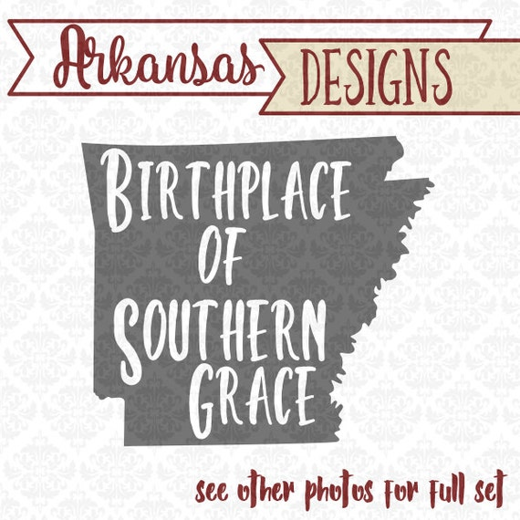 Arkansas Birthplace of Southern Grace state SVG DXF STUDIO Ai Eps vector instant download commercial use cutting file cricut silhouette