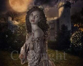 Vampire Fantasy Art - Horror Artwork - Gothic Vampire Art Print