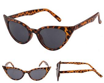 "50s ""Bettie"" sunglasses shades - Pin-up/VLV/Rockabilly/Psychobilly - Leopard Print"