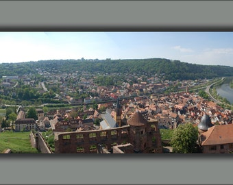24x36 Poster . Panorama Of Wertheim Germany