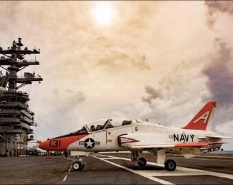 24x36 Poster . T-45C Goshawk T-45 Uss Dwight D. Eisenhower (Cvn-69)