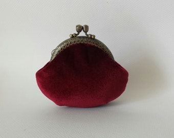 Frame Coin Purse Clasp Coin Purse Kisslock Coin Purse, velvet purse