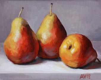 Forelle Pears Painting Still Life by Aleksey Vaynshteyn