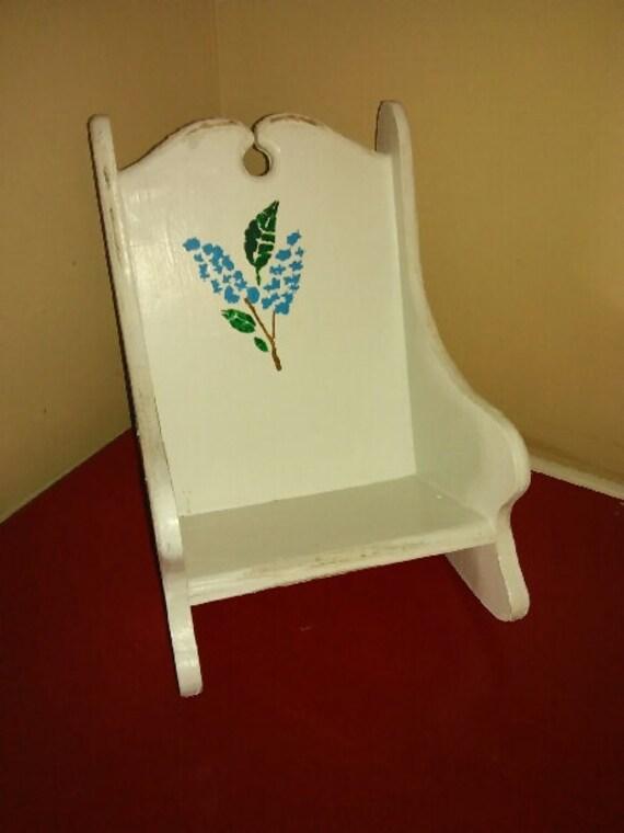 Doll Rocking Chair Folk Art/Fashion Doll Chair/Doll Chair Shabby