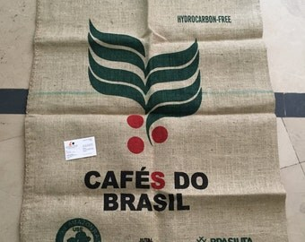 New *Never Used * Original Cafes do Brasil Sack , Size 75x100 cm (Our own Stitched)