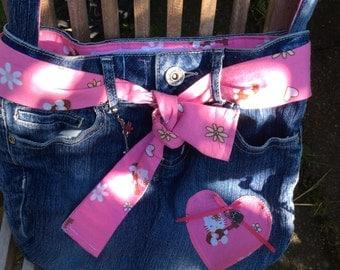 """Girl's Denim """"skirt"""" Handbag"""