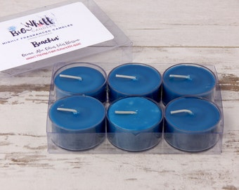 Beachin' - Tea Lights, Scented Candles, Scented Tealights,Tealight Candles , Homemade Candles, Handmade Candle, Ocean Tea Lights
