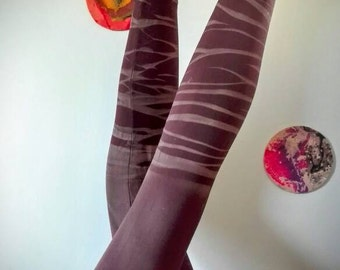 Zebra brown leggings