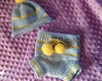 Diaper cover and hat