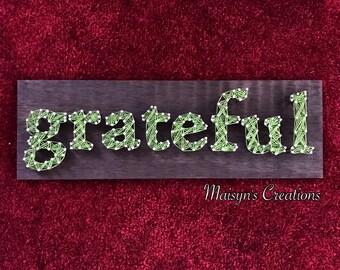 Grateful String Art Sign | MADE TO ORDER