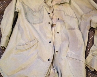 Vintage 80's Sergio Valente denim jean jacket size medium
