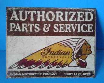 """Tin Sign """" #S1930 Indian Motorcycles """" Advertisement 16""""x12"""""""