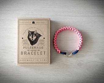 Crab Bracelet men-Women, jewelry for men women, urban bracelet pink-midnight blue, Valentine's Day gift, bracelet for her and him