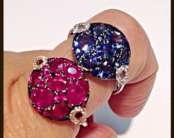18 Carat Rubies Sapphires Diamonds