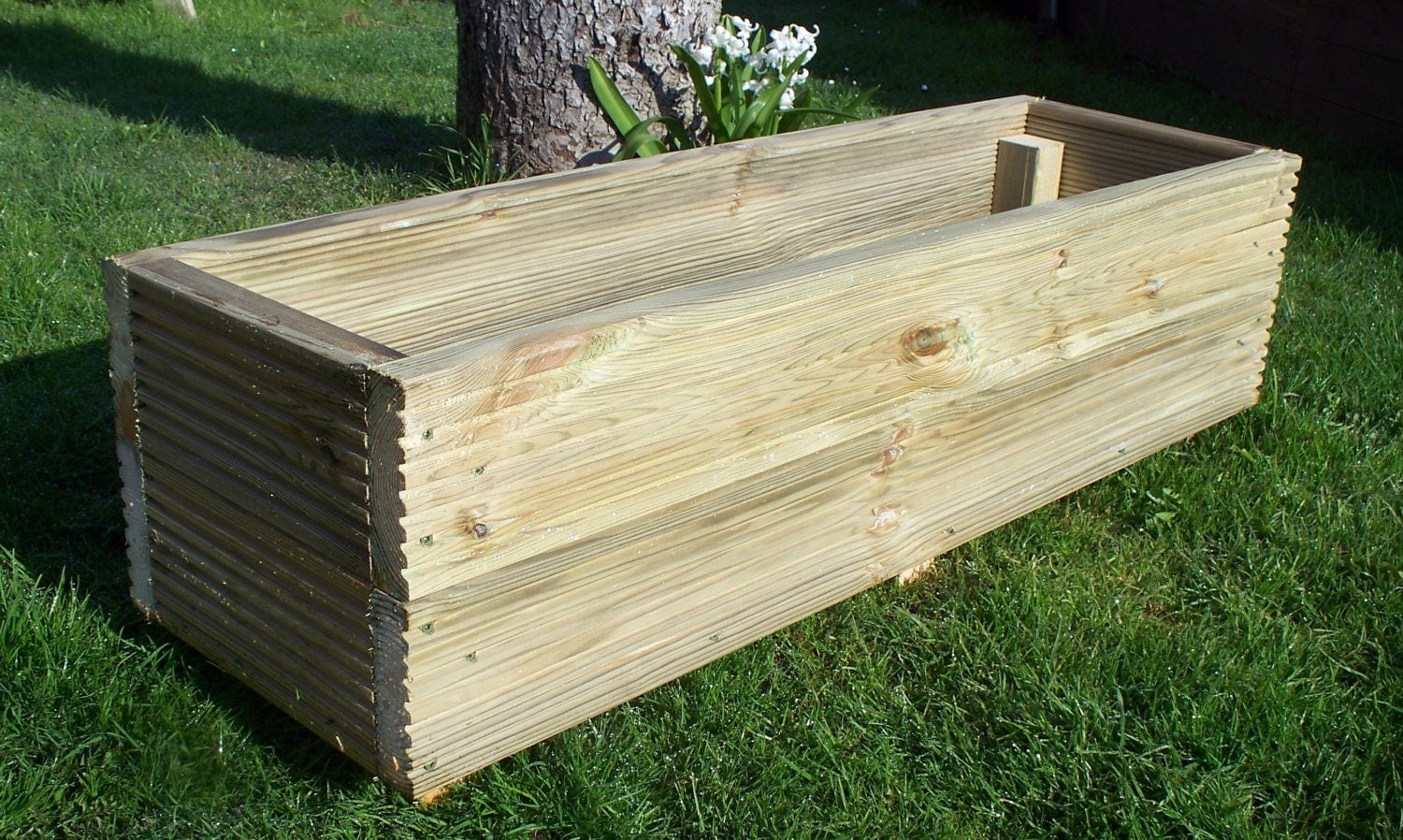 Large decking wooden garden planter 800 1000 or 1200mm wood for Garden planters