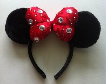 Rhinestone Minnie Ears