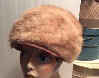 50% Off Sale Vintage Blonde Genuine Fur Mink Hat