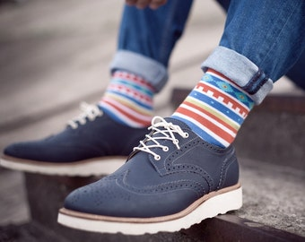 Aztec  colofrul socks for men. Fun Patterned men socks. Free delivery!