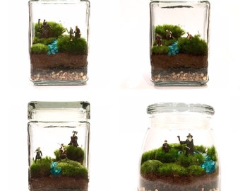 Large Custom Lord of the Rings Inspired Terrarium // You Choose Your Minis!