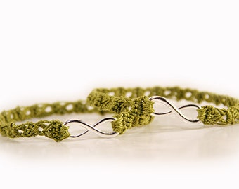 Bridesmaid gifts - bracelet set - bachelorette party bracelets - bachelorette party - crocheted bracelet - crochet jewelry - christmas gifts