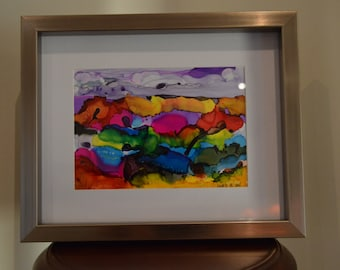 Coral Reefs: Alcohol Ink & Watercolor Original Painting on Yupo Paper