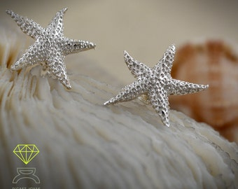 Starfish Earrings.Sterling silver Earrings