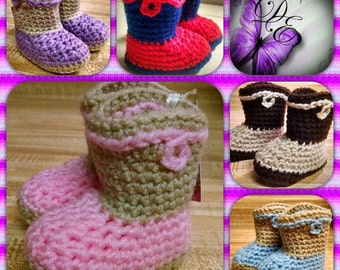 Cowboy Boots for Baby/Crocheted Baby Cowboy Boots/Cowboy and Cowgirl Boots
