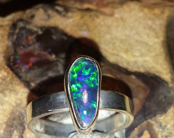 Gilson synthetic opal ring size us 7.75
