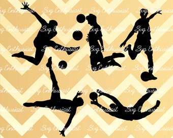 Soccer player SVG, Soccer silhouette, Soccer bundle svg, Soccer player cut file, Goal SVG, Vinyl, EPS, Dxf, Cut Files, Clip Art, Vector,