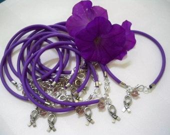 Lupus awareness purple bracelets