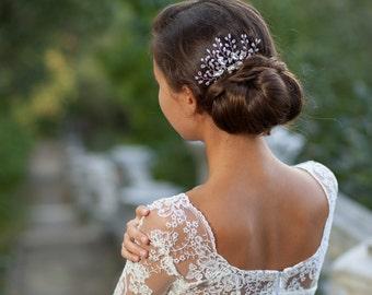 Wedding hair comb Crystal bridal comb Silver wedding comb Crystal bridal comb  Rhinestone pearl bridal comb Silver wedding headpiece