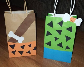 10 Bam Bam and Pebbles Party Favor Bags