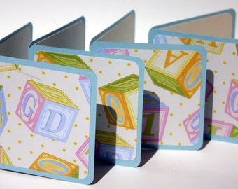 4 cards. Perfect for Birth Announcement, Baby Shower or Thank you cards. 3inches