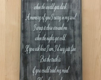 A picture of you memorial sign, memorial gift, sympathy gift, custom wood sign, pet sympathy, home decor wall art, wood sign sayings