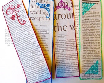 "Newspaper ""Filigree"" Bookmarks (set of 4)"